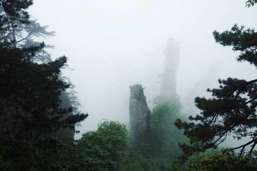 雾缠峰柱人间仙境