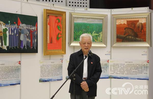 周铁农先生宣布展览开幕。 韩丹 摄