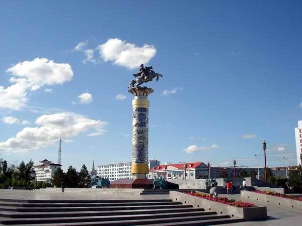 Площадь Чингисхана в р. Хайлар