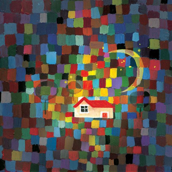 """""""红房子""""主题创意绘画图片"""