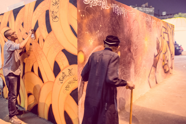 Saudi graffiti artists are taking it slowly in their conservative society.