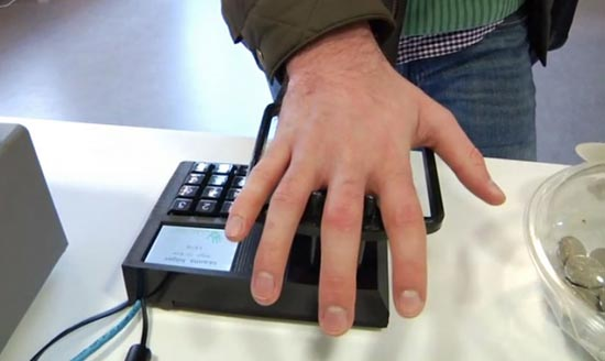 A team of Swedish university students are on the road to becoming millionaires after developing a payment system using the palms of people's hands.