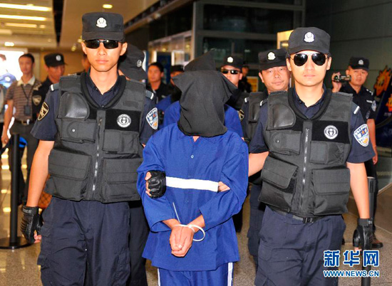 "Chinese authorities have taken custody of the five major suspects in the ""March 19"" drug case."