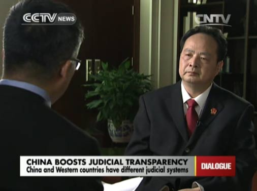 Dialogue 06/10/2014 China boosts judicial transparency