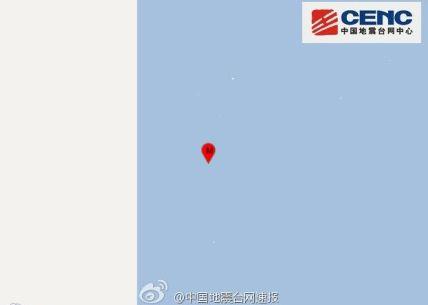 克马德克群岛发生6.9级地震