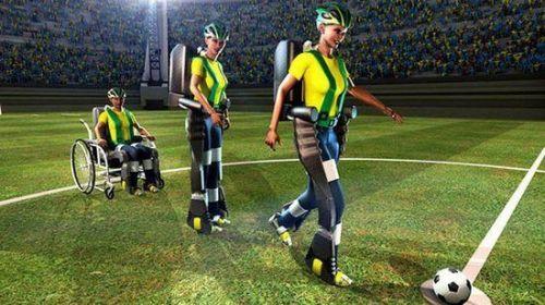 机器脚为科技世界杯开球