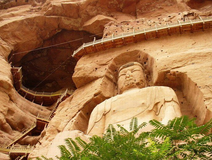 The Bingling Temple Grottoes in northwest China