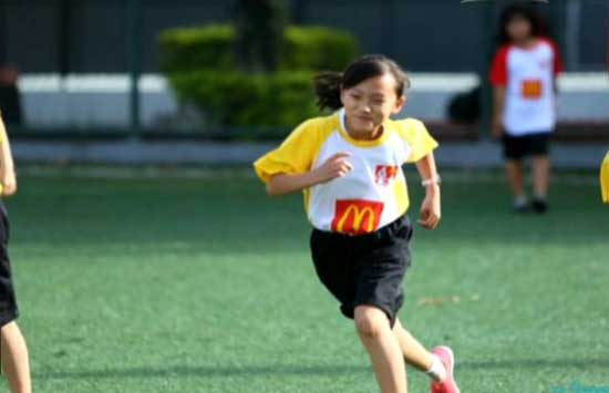 A ten-year old Chinese girl had her World Cup dream come true as she made her way onto the pitch prior to the final game.
