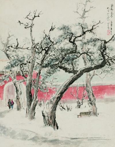 首都之冬(国画) 43.5×34厘米  1954年
