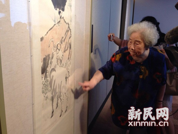 """A famous painting by Xu Beihong called """"Rooster and Goat"""" has been donated by the Yi family to the China Art Museum in Shanghai. It"""