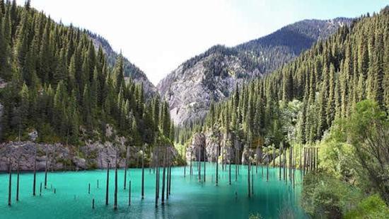 卡因德湖因其美丽的风景和其湖面的云杉树闻名,当你潜入湖底,会发现更