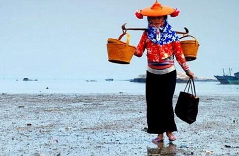 头披花头巾、戴金色斗笠,上穿湖蓝色斜襟短衫,下着宽大黑裤……惠安女以独特的形象给人们留下深刻的印象,在婚嫁方面,更有着独特的习俗。