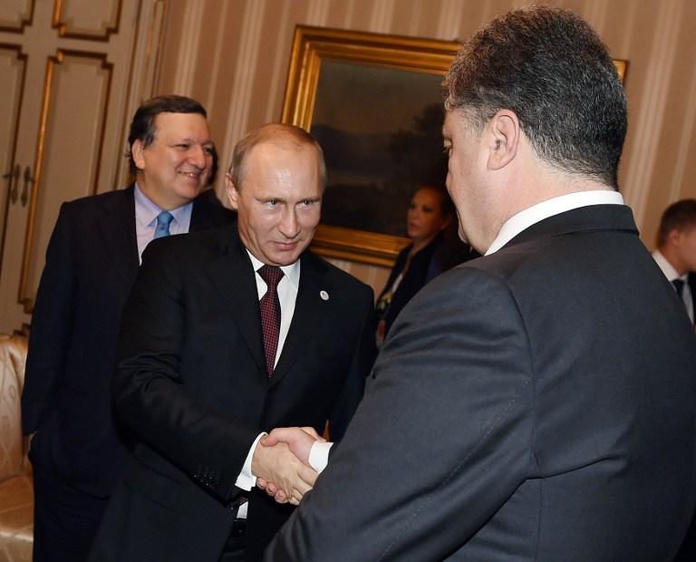 Архив: В.Путин и П.Порошенко