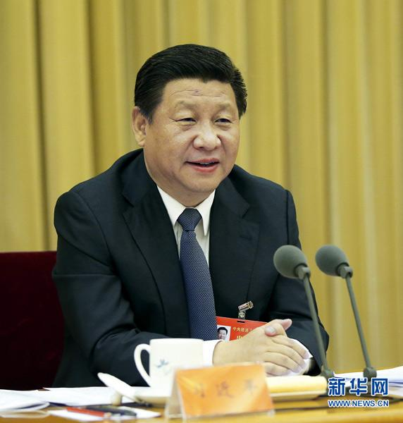 Chinese President Xi Jinping, also general secretary of the Communist Party of China (CPC) Central Committee and chairman of the Central Military Commission, speaks at the Central Economic Work Conference in Beijing, capital of China. The conference was held in Beijing from Dec. 9 to 11, 2014. (Xinhua/Ju Peng)