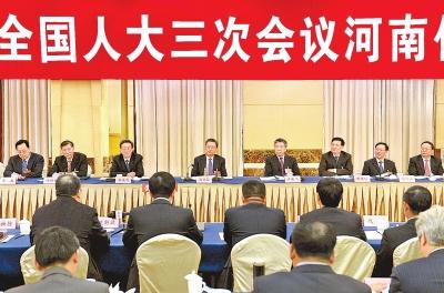 3月5日下午,河南代表团举行全体会议,审议政府工作报告,赵乐际参加审议。记者 杜小伟 摄