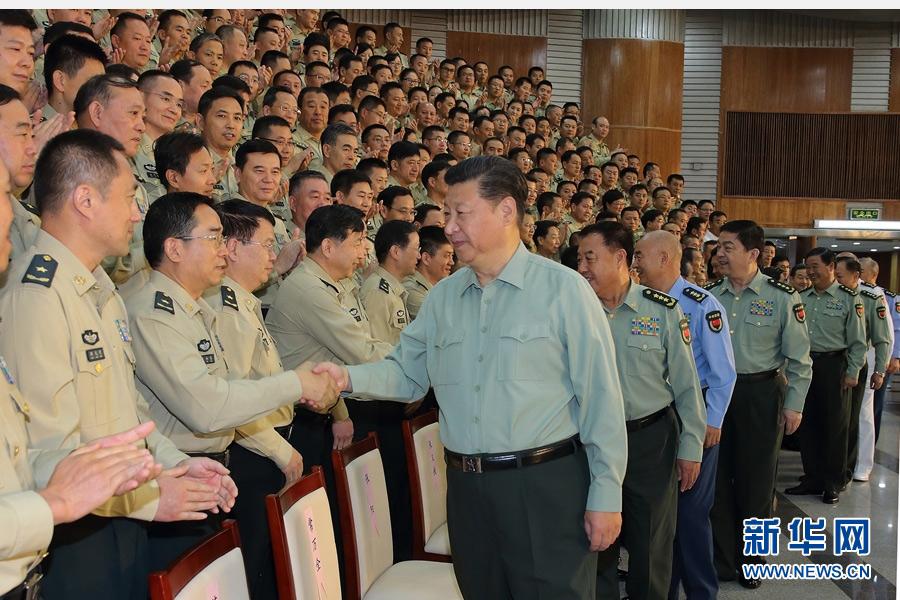 9月26日,中共中央总书记、国家主席、中央军委主席习近平视察火箭军机关,代表党中央和中央军委,对火箭军第一次党代表大会的召开表示热烈的祝贺,向火箭军全体指战员致以诚挚的问候。这是习近平亲切接见火箭军第一次党代会全体代表。