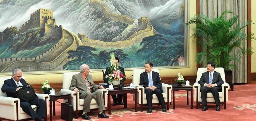 11月29日,中共中央政治局委员、中组部部长赵乐际在北京会见古共中央书记处书记阿尔瓦雷斯率领的古巴共产党代表团。