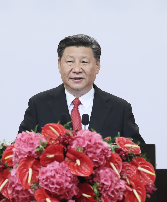 6月30日晚,国家主席习近平出席香港特别行政区政府欢迎晚宴并发表重要讲话。