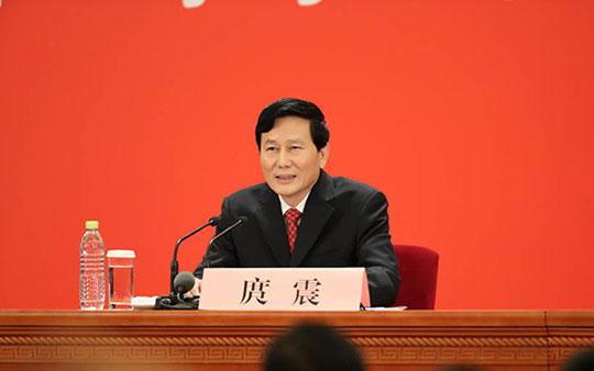 图为中国共产党第十九次全国代表大会新闻发言人庹震
