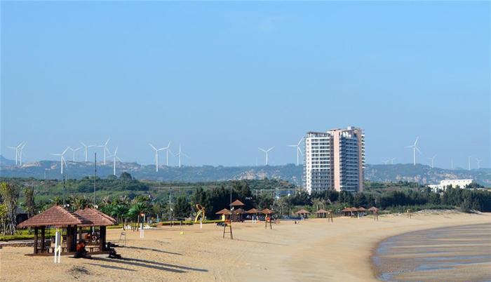 这是福建省漳州市隆教畲族乡白塘湾沙滩(9月21日摄)。新华社记者 黄鹏飞 摄