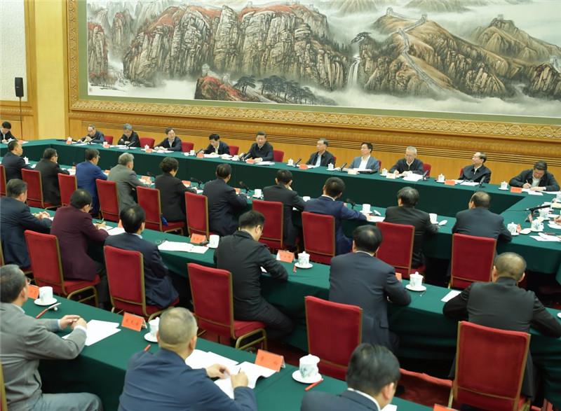 11月1日,中共中央总书记、国家主席、中央军委主席习近平在北京人民大会堂主持召开民营企业座谈会并发表重要讲话。新华社记者 李涛 摄