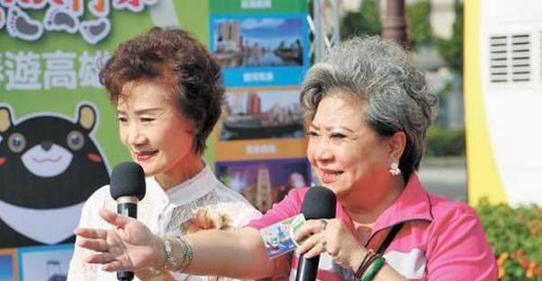 台湾资深艺人吴敏(右)与吴静娴现身担任观光大使,助高雄抢攻银发族市场。