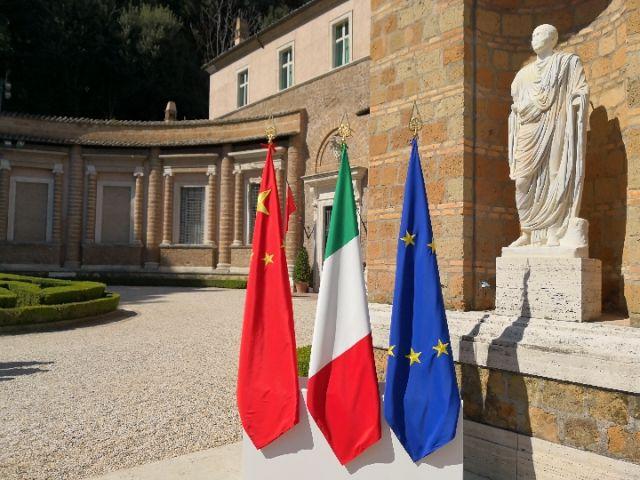 3月23日,国家主席习近平与意大利总理孔特在罗马以西马达马庄园见证签署政府间合作文件。图为马达马庄园外景。(新华社记者兰红光摄)