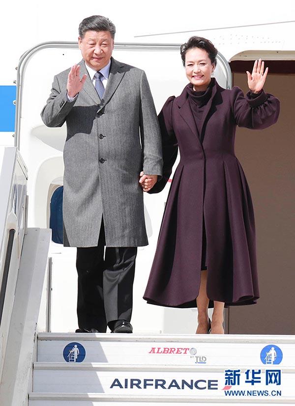 习近平访问法国 同法国总统马克龙会谈