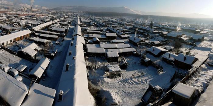 隆冬时节的阿尔山