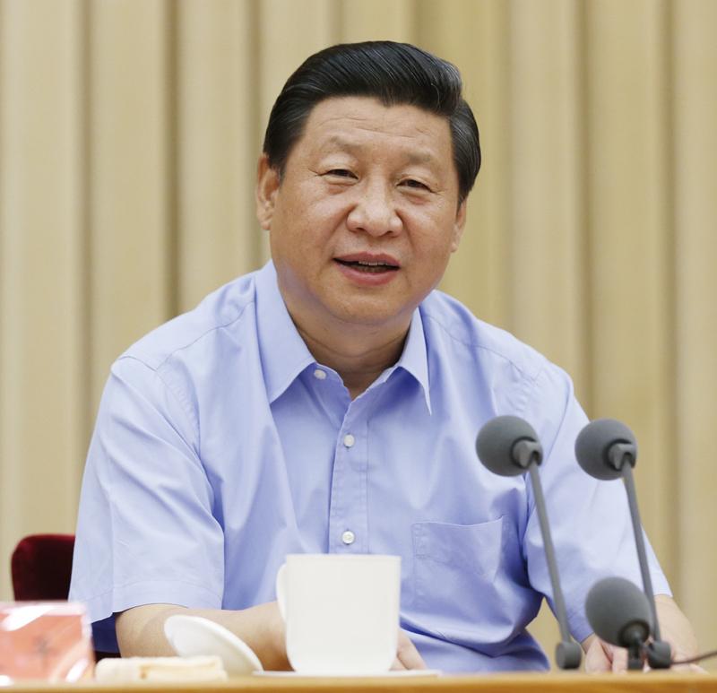 2013年8月19日,中共中央总书记、国家主席、中央军委主席习近平在全国宣传思想工作会议上发表重要讲话。 新华社记者 鞠鹏/摄