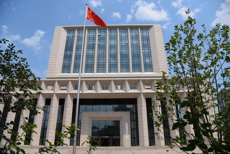 这是7月5日拍摄的中华人民共和国应急管理部外景。新华社记者 陈晔华 摄