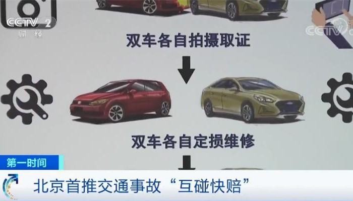 """北京首推交通事故""""互碰快赔"""" 90%事故可用 3天结案"""