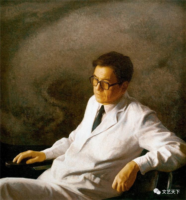 《醫生》 靳尚誼 油畫
