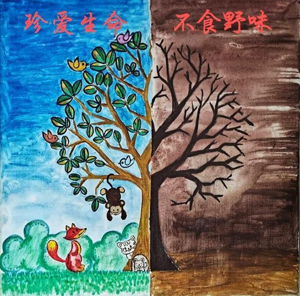 《珍愛生命 不食野味》 張梓溪 11歲