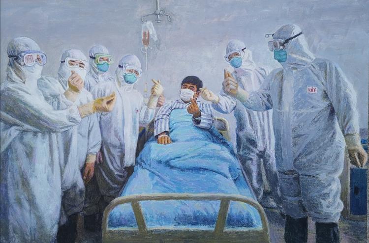 《火箭兵的心》  竇鴻   油畫