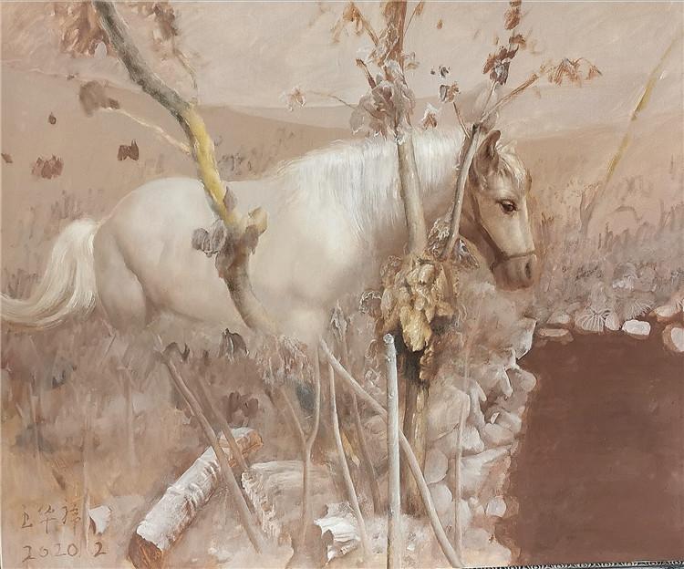 《春天總是躲在冬天的後面》 王華祥 油畫