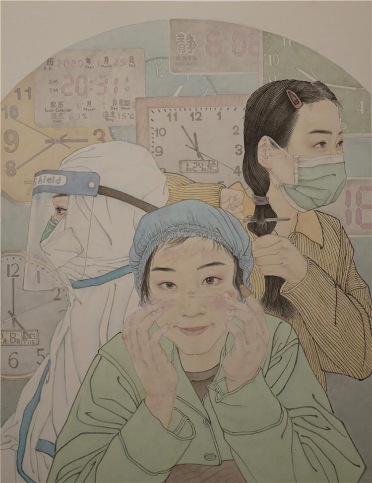 《不负韶华》 黄梦媛  中国画