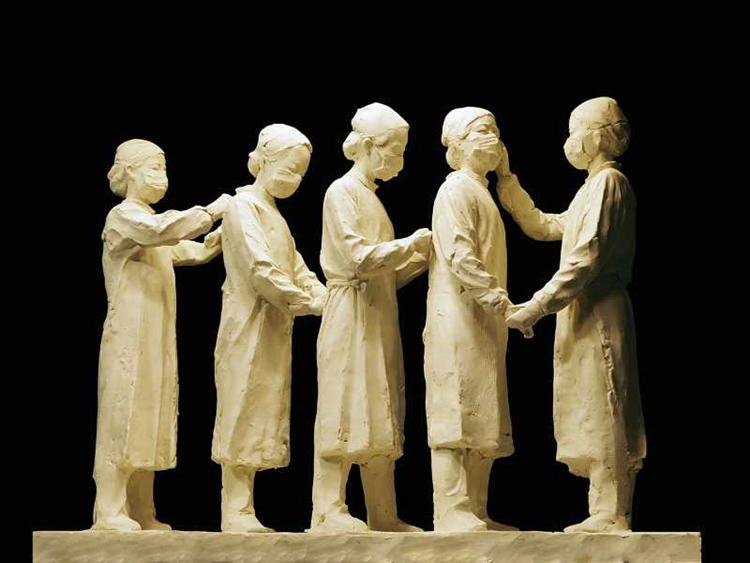 《友爱》熊文颖 林印吉  雕塑
