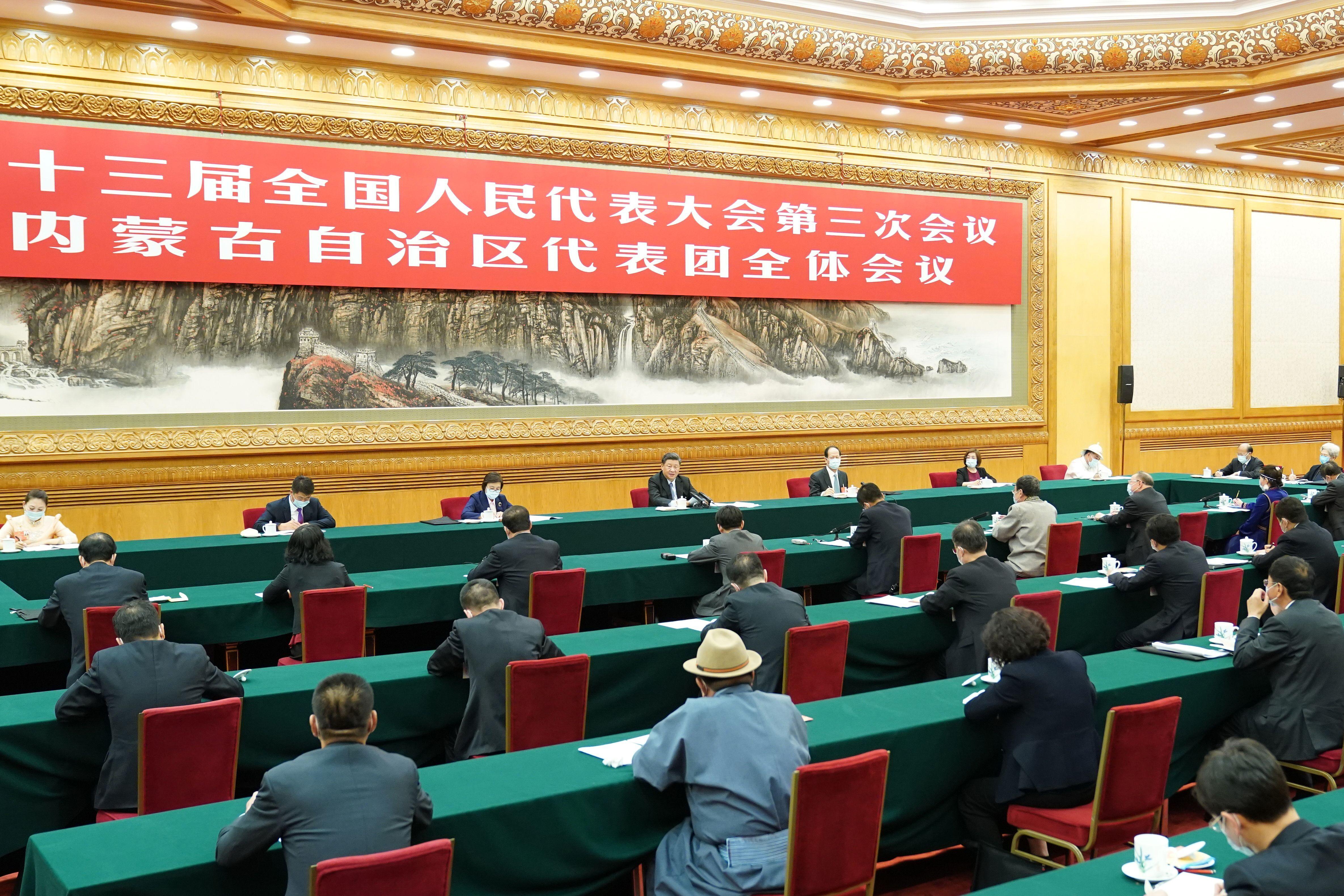 习近平在参加内蒙古代表团审议时强调 坚持人民至上 不断造福人民 把以人民为中心的发展思想落实到各项决策部署和实际工作之中