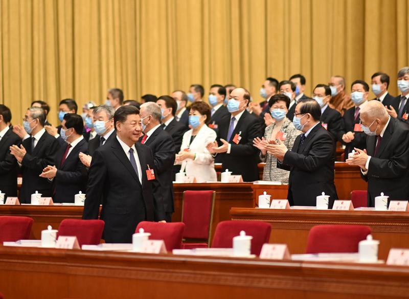 5月22日,第十三届全国人民代表大会第三次会议在北京人民大会堂开幕。这是习近平步入会场。新华社记者 李学仁 摄