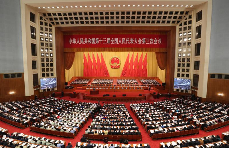 5月22日,第十三届全国人民代表大会第三次会议在北京人民大会堂开幕。新华社记者 姚大伟 摄