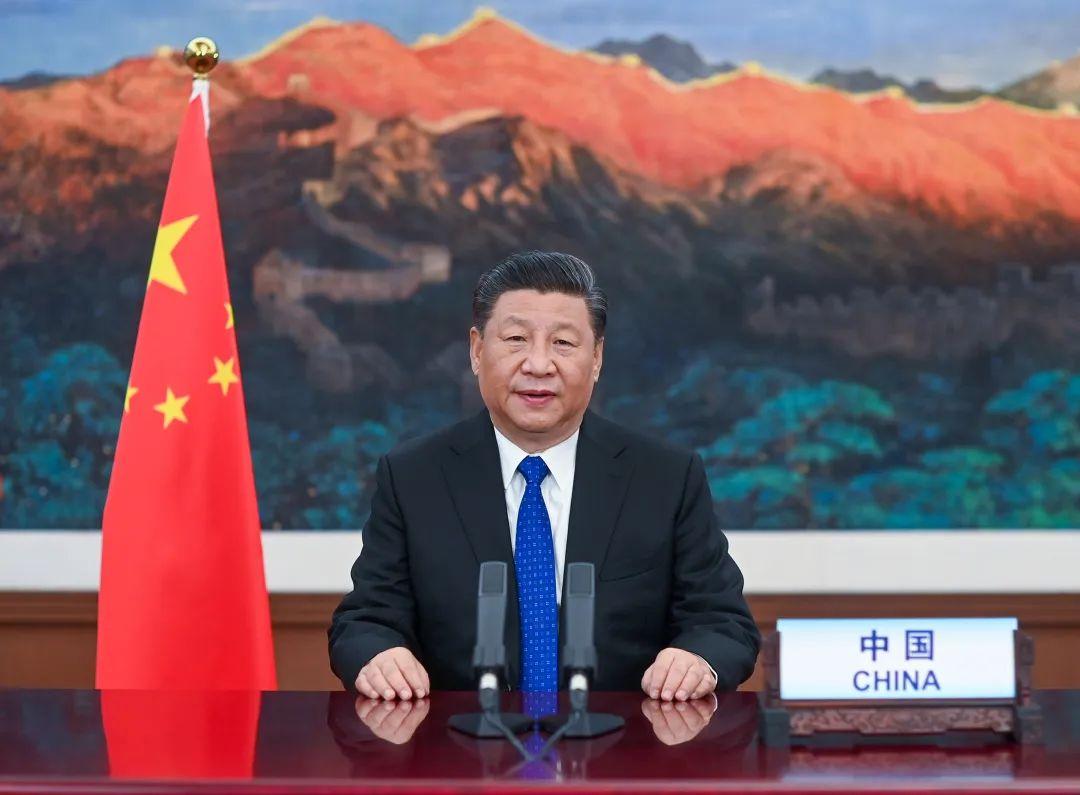 5月18日,国家主席习近平在第73届世界卫生大会视频会议开幕式上发表题为《团结合作战胜疫情 共同构建人类卫生健康共同体》的致辞。 新华社记者李学仁 摄