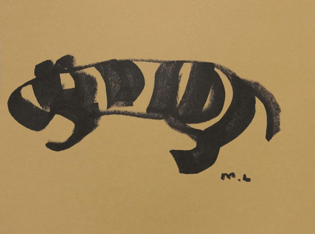 展出的韓美林岩畫系列作品