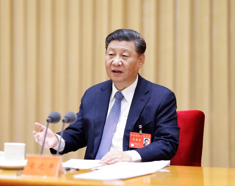 12月16日至18日,中央经济工作会议在北京举行。中共中央总书记、国家主席、中央军委主席习近平发表重要讲话。新华社记者 黄敬文 摄