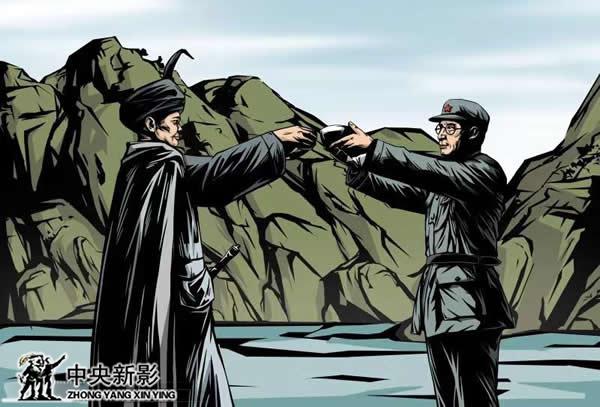《金沙江大渡河》中劉伯承與小葉丹彝海會盟場景畫面設計
