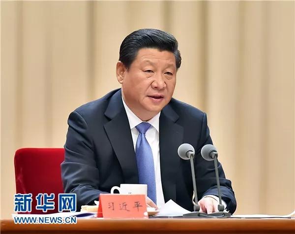 2014年10月8日,中共中央总书记、国家主席、中央军委主席习大大在党的群众路线教育实践活动总结大会上发表重要讲话。新华社记者 李涛