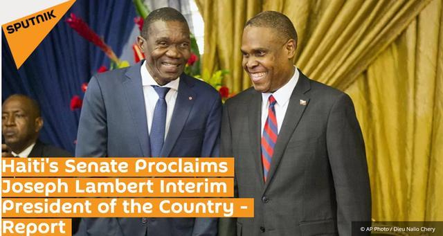 俄媒:海地参议院选举参议院领袖约瑟夫·兰伯特为海地临时总统插图