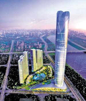 南宁城西将崛起广西第一高楼