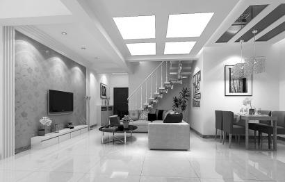 时尚个性斜顶阁楼式现代装修