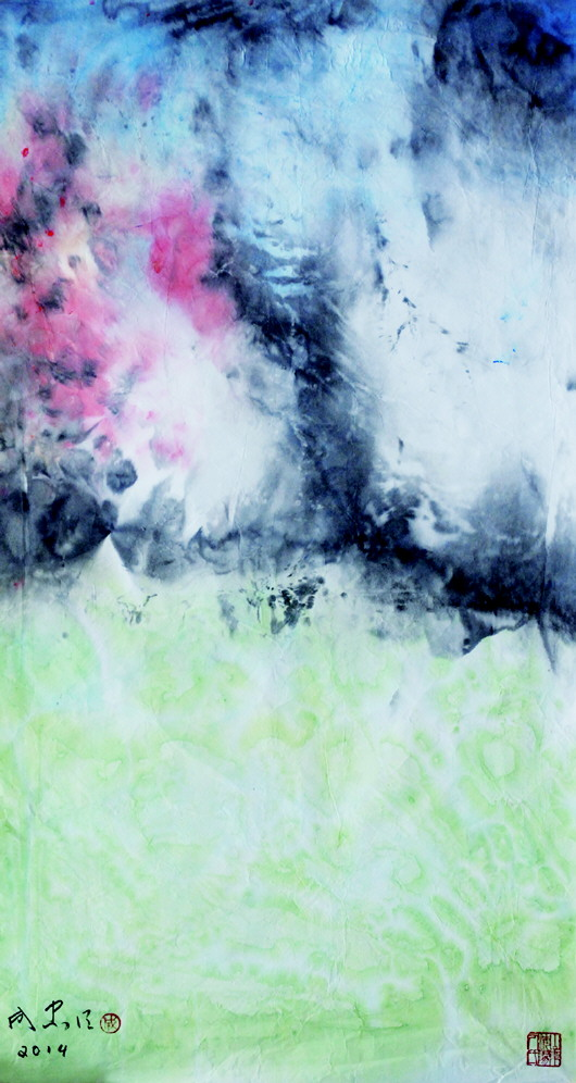 △现代水墨画《雨后》-为中国画走向现代化 摇旗呐喊